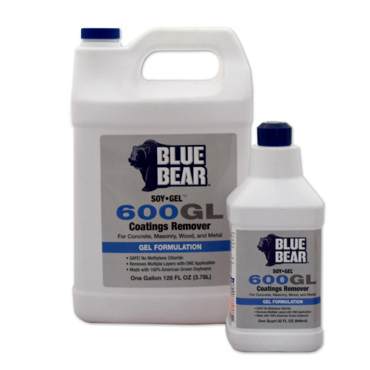 Soy Gel 600GL Blue Bear Paint, Urethane, and Coatings Stripper