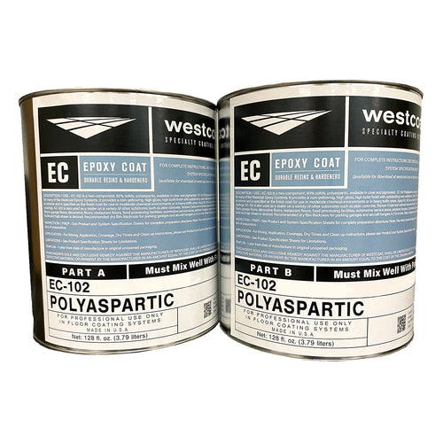 Westcoat EC-102 Clear 80% Solids Polyaspartic Floor Coating