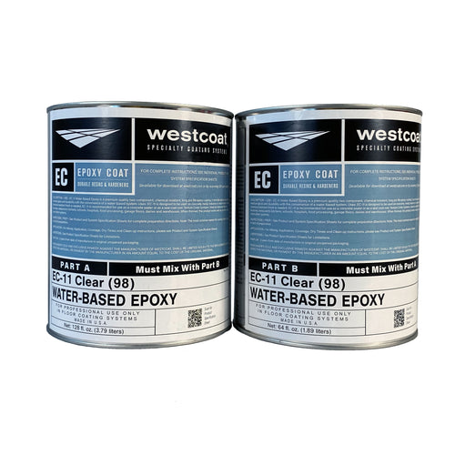 Westcoat EC-11 Water-Based Clear Epoxy 1-1/2 Gallon Kit