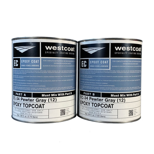 Westcoat EC-34 100% Solids Pigmented Epoxy Topcoat 1-1/2 Gallon Kit