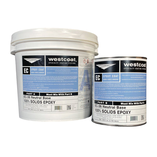 Westcoat EC-36 100% Solids Epoxy 3-Gallon Kit