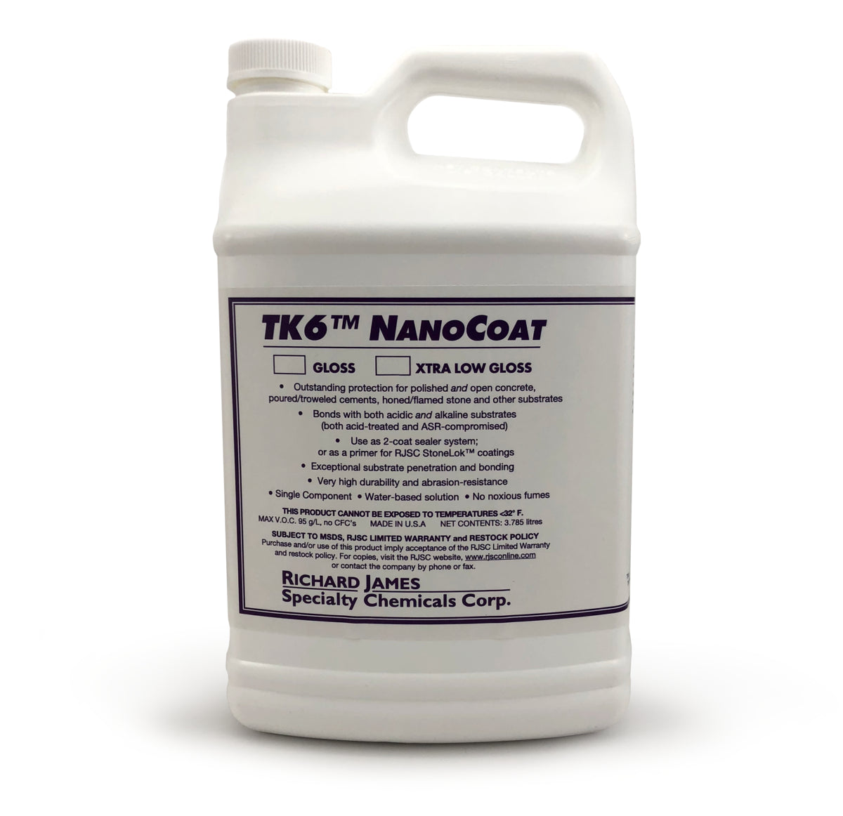 Richard James Specialty Chemical Corp. TK6™ NanoCoat Concrete Sealer