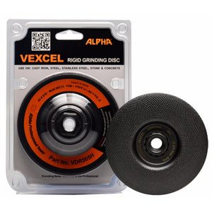 "Alpha® 5"" Vexcel Rigid Diamond Grinding Disc: 25, 35, 50, 80 grit"