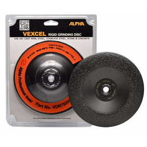 "Alpha 7"" Vexcel Rigid Diamond Grinding Disc: 25, 35, 50, or 80 grit"