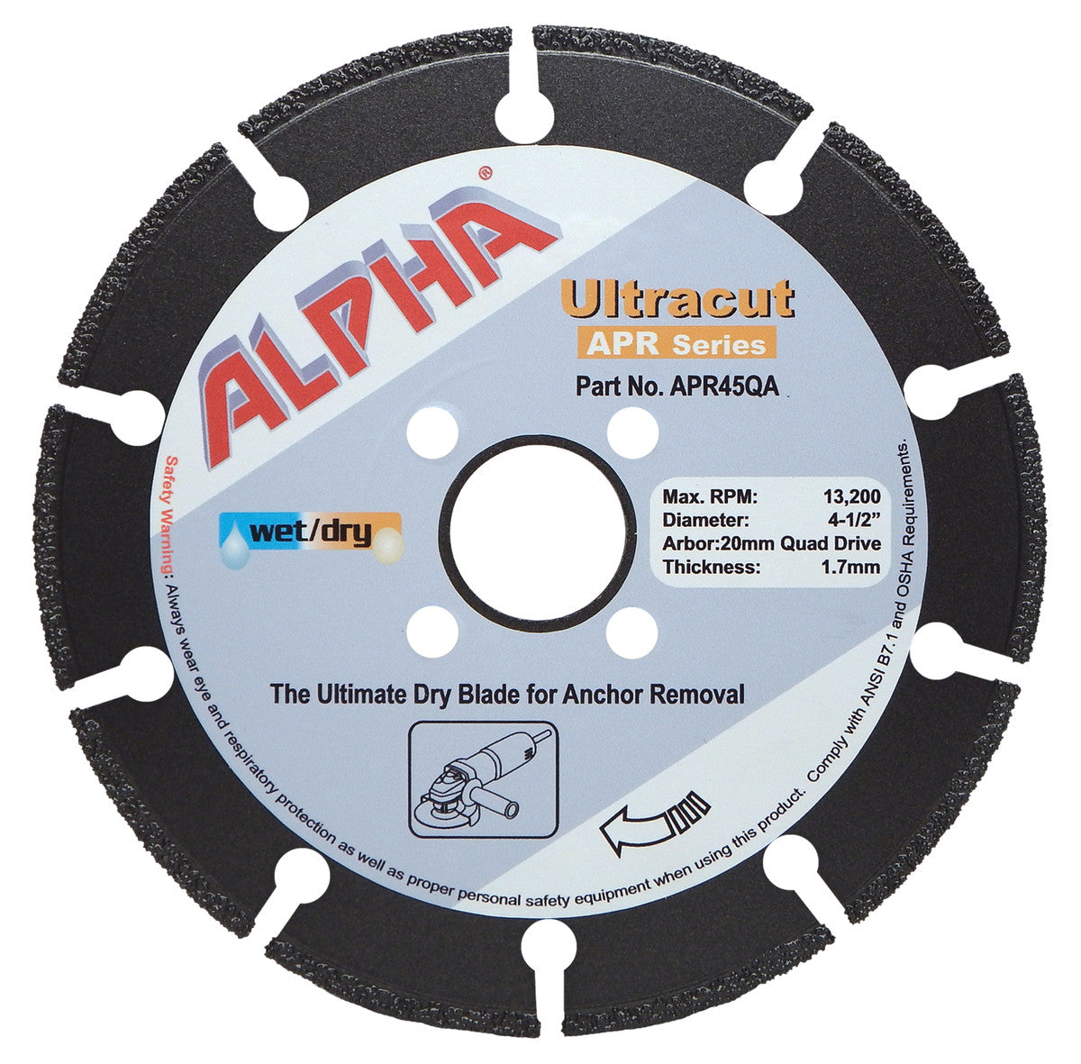 Alpha® Ultracut Metal Cutting Blade