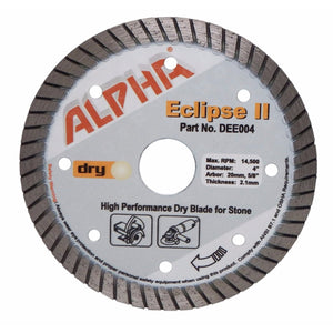 Alpha® Eclipse II Wet/Dry Concrete and Stone Cutting Blades