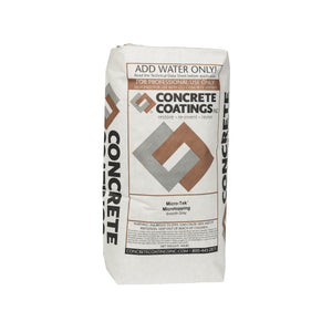 Concrete Coatings Microtek Smooth-Grade Gray Concrete Overlay - 40 lb