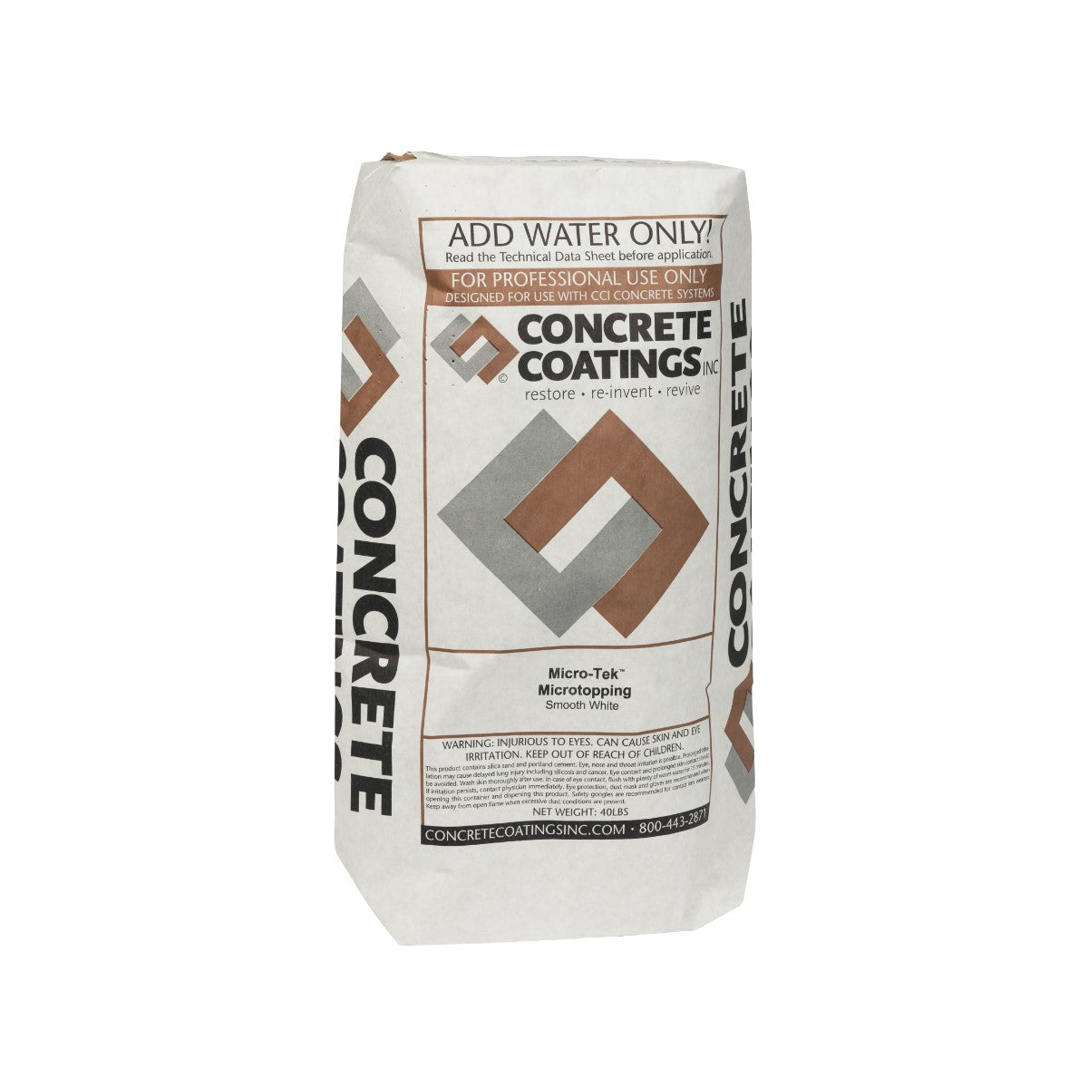 Concrete Coatings Microtek Smooth-Grade White Concrete Overlay - 40 lb