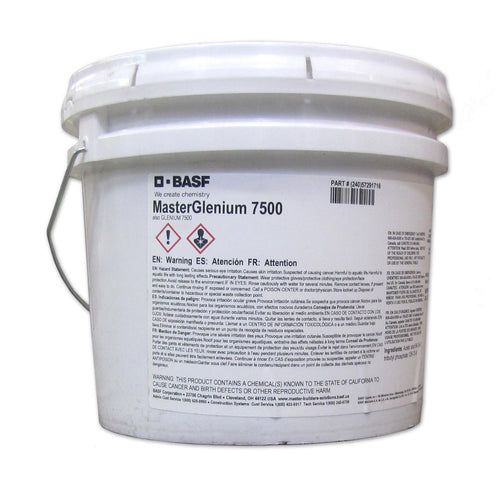 BASF MasterGlenium 7500 Full-range Water-reducing Admixture - 3 gallon