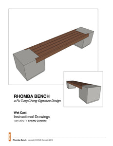 Rhomba Bench Project How-to Drawings