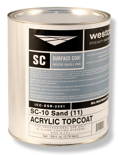 Westcoat SC-10 Pigmented Water-Base Acrylic Sealer and Topcoat 1-Gallon