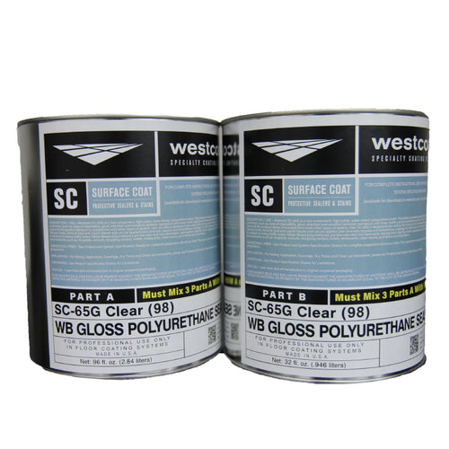 Westcoat SC-65 Water-based CLEAR Polyurethane Concrete Sealer