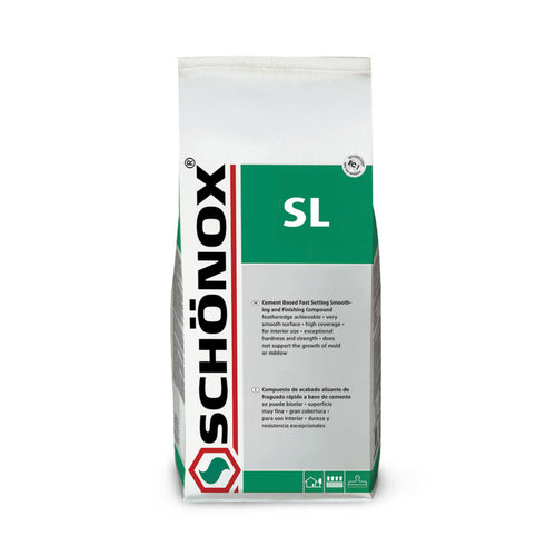 CASE of 4 Schönox SL Finishing Patching and Smoothing Compound (total 40 lb)