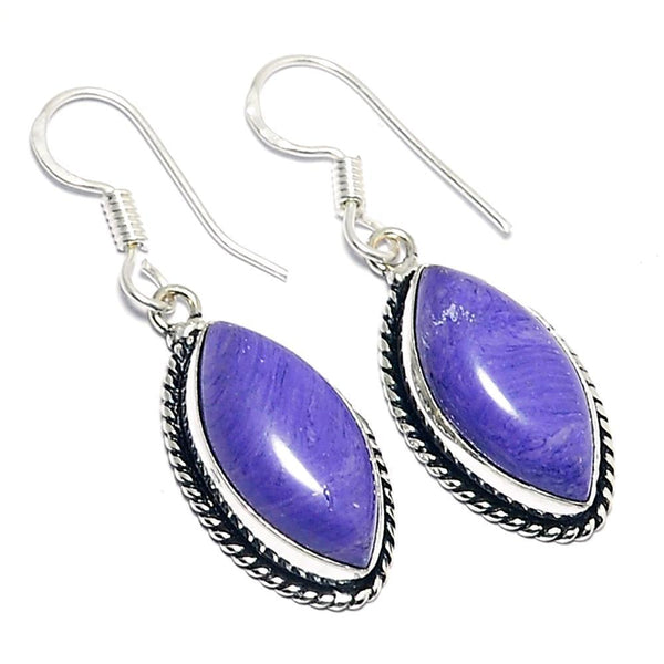 GCG Basics - Charoite Silver Earrings Earrings