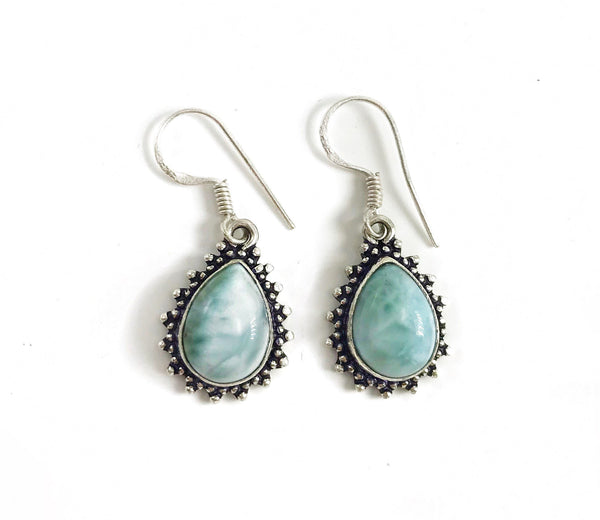 Gulf Coast Gems BOHO GCG Basics - Larimar Silver Earrings Earrings