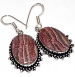 GCG Basics - Rhodochrosite Silver Earrings