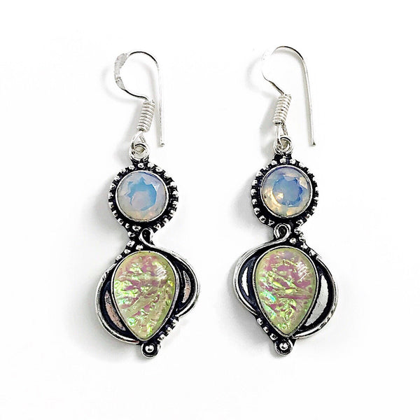 Gulf Coast Gems BOHO GCG Southern Lights Buttercream Opal Earrings Earrings