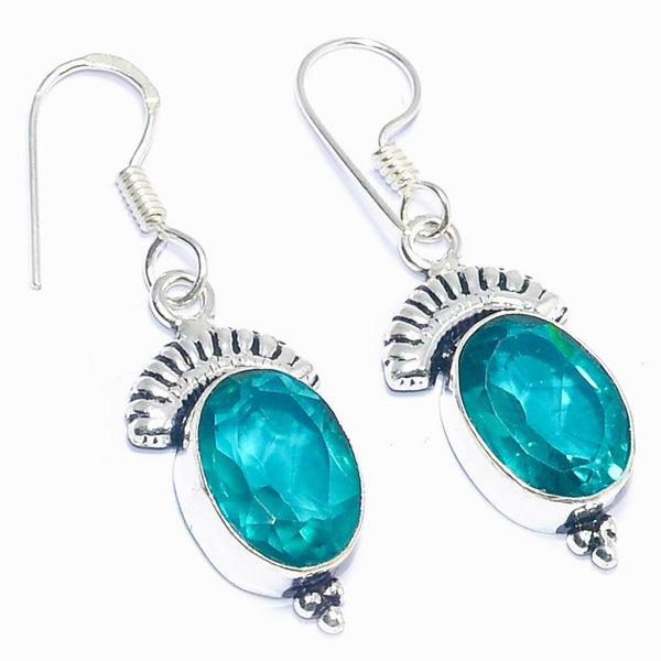 Gulf Coast Gems BOHO Tourmaline Silver Earrings Earrings