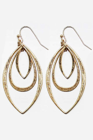 Oval Shape Metal Earrings