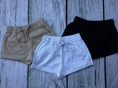 LINEN SHORTS 3 Colors
