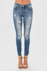 LT/MEDIUM DESTROYED SKINNIES