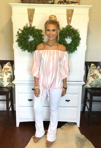 OFF SHOULDER TOP PINK