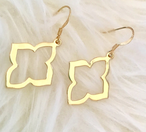 Floral Cutout Drop Earrings