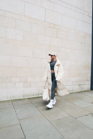 KIHT collective outfit styled with oversized jacket
