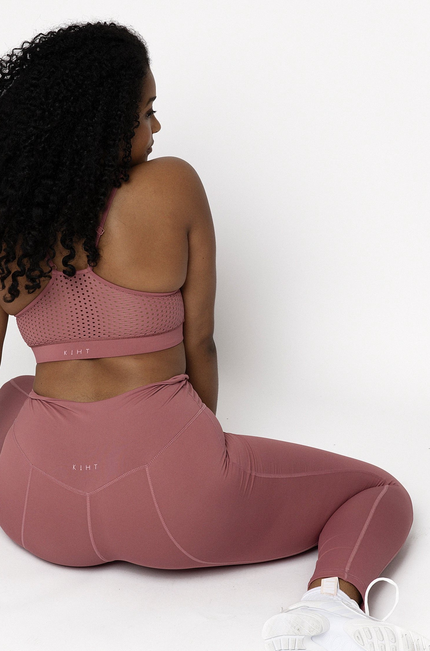 STEPH BIKER LEGGING IN SMOOTHIE PINK