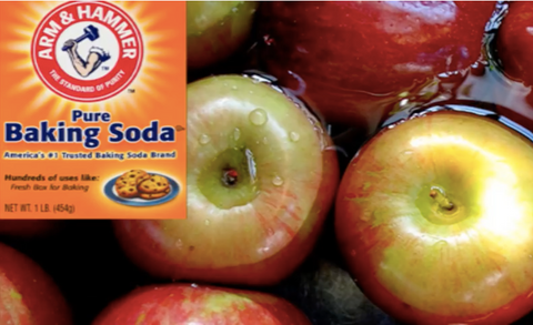 Apples with Baking Soda box