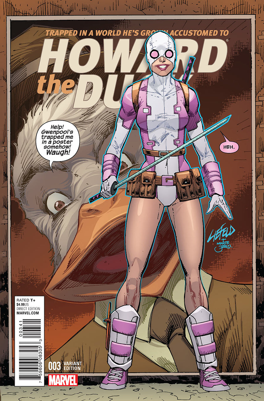 Howard The Duck 1:25 Variant issue #3 CGC 9.8 Rob Liefeld Gwenpool