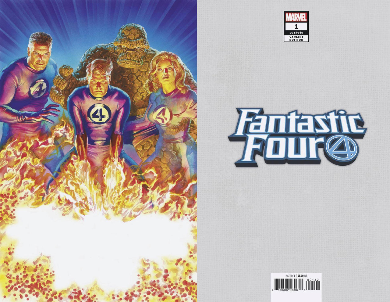 Fantastic Four 1:200 Variant issue #1 Alex Ross