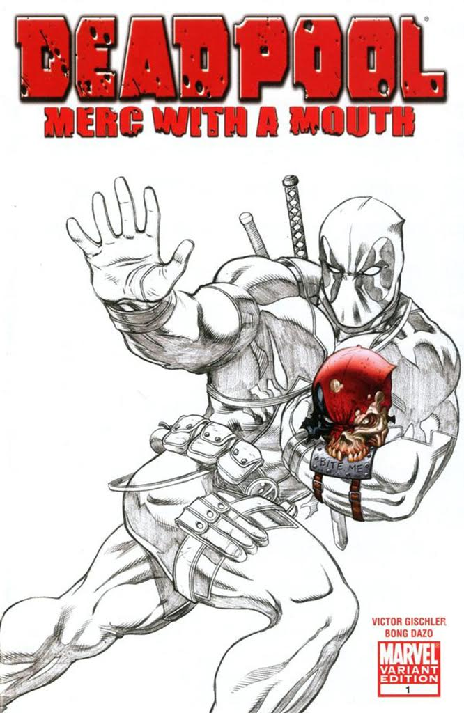 Deadpool Merc With A Mouth SDCC Exclusive Sketch Variant issue #1