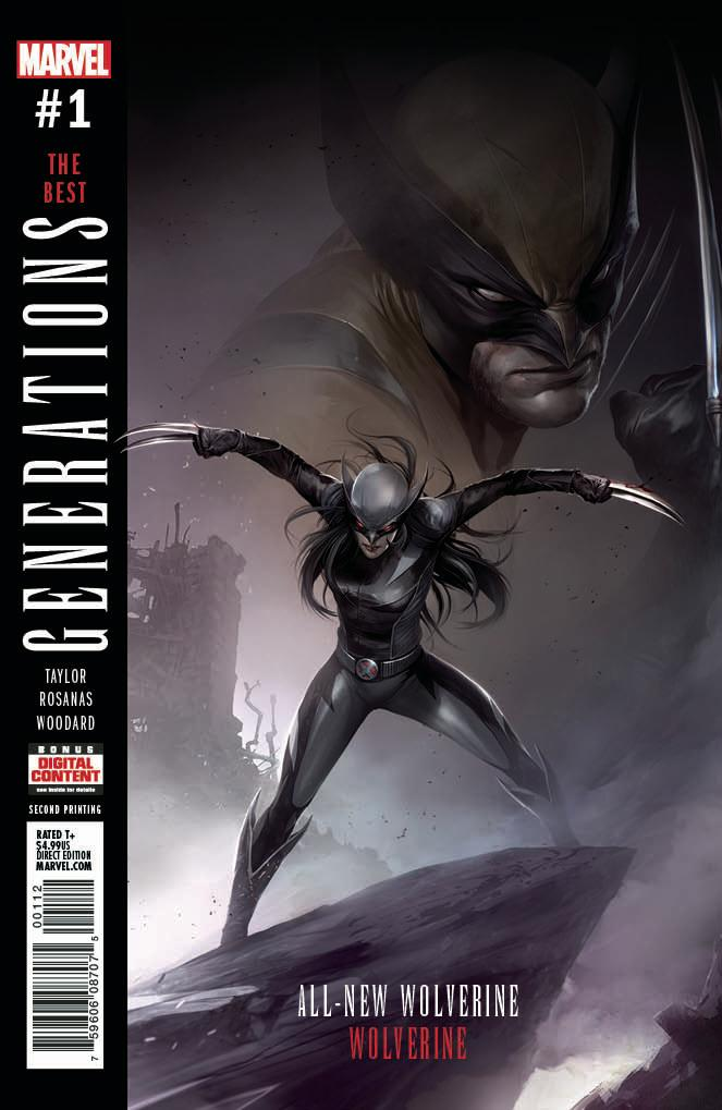 Generations : Wolverine 2nd print Variant issue #1