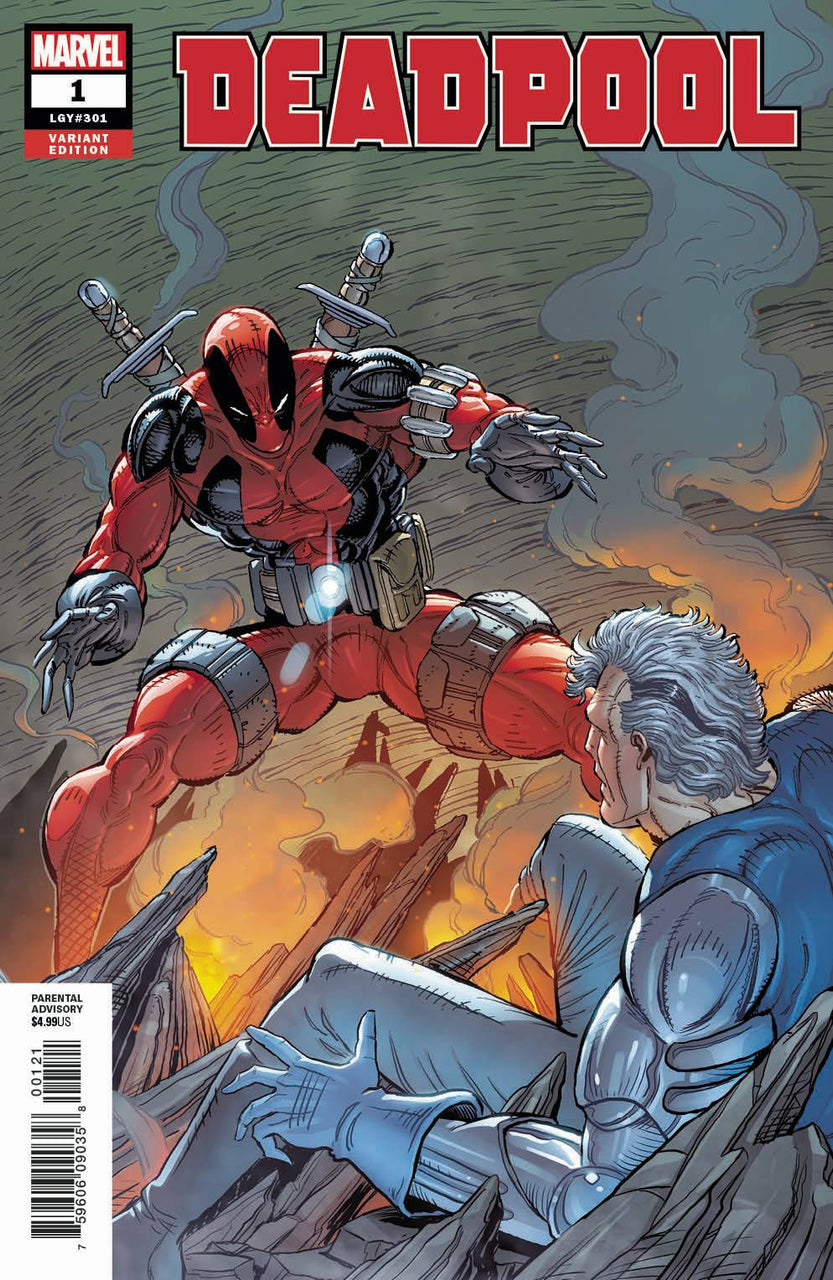 Deadpool 1:500 Remastered Variant issue #1 Rob Liefeld igcomicstore