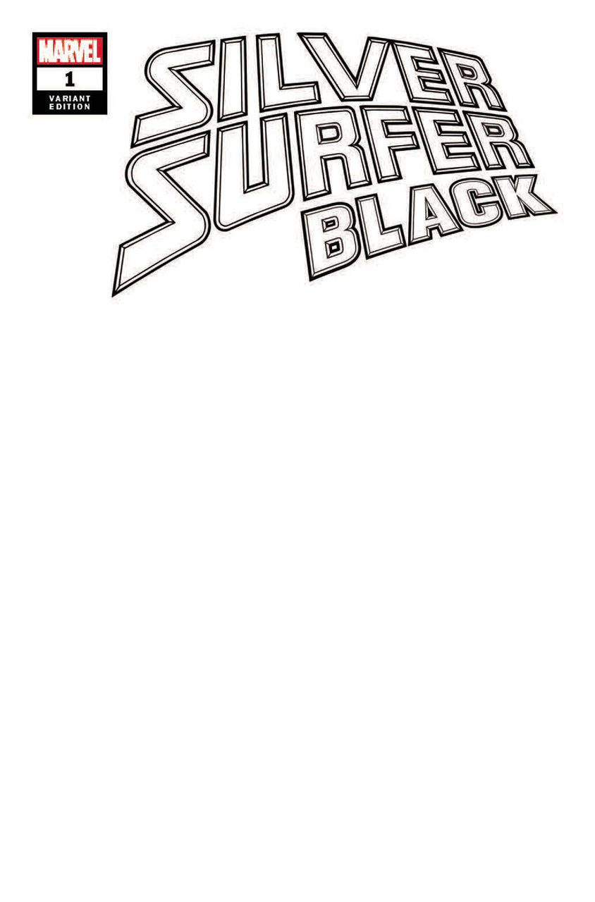 Silver Surfer Black Variant issue #1 Custom Inked One-Off Head Shot by Scott Williams
