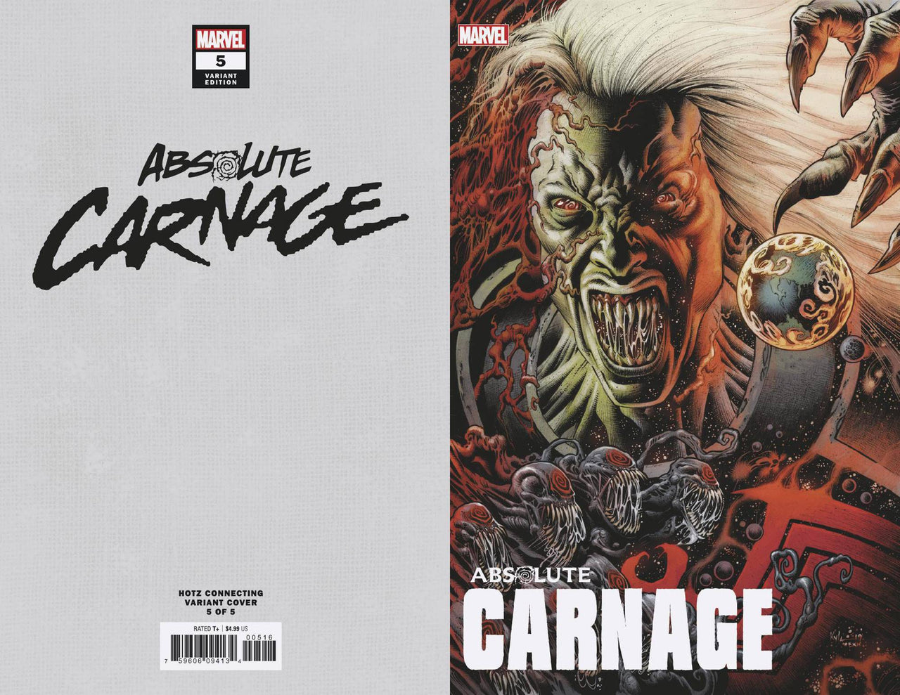Absolute Carnage Connecting Variant issue #5 CGC 9.8