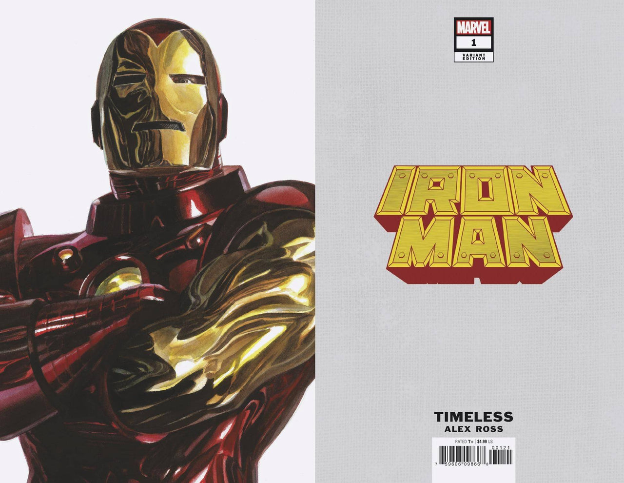 Iron Man Timeless Virgin Variant issue #1 CGC 9.8 - SHIPS 10/25/20