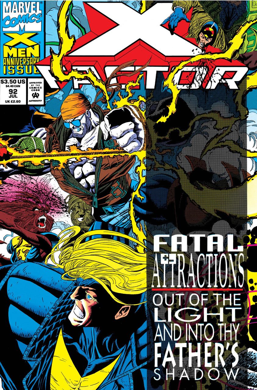 X-Factor Wraparound Hologram Cover issue #92