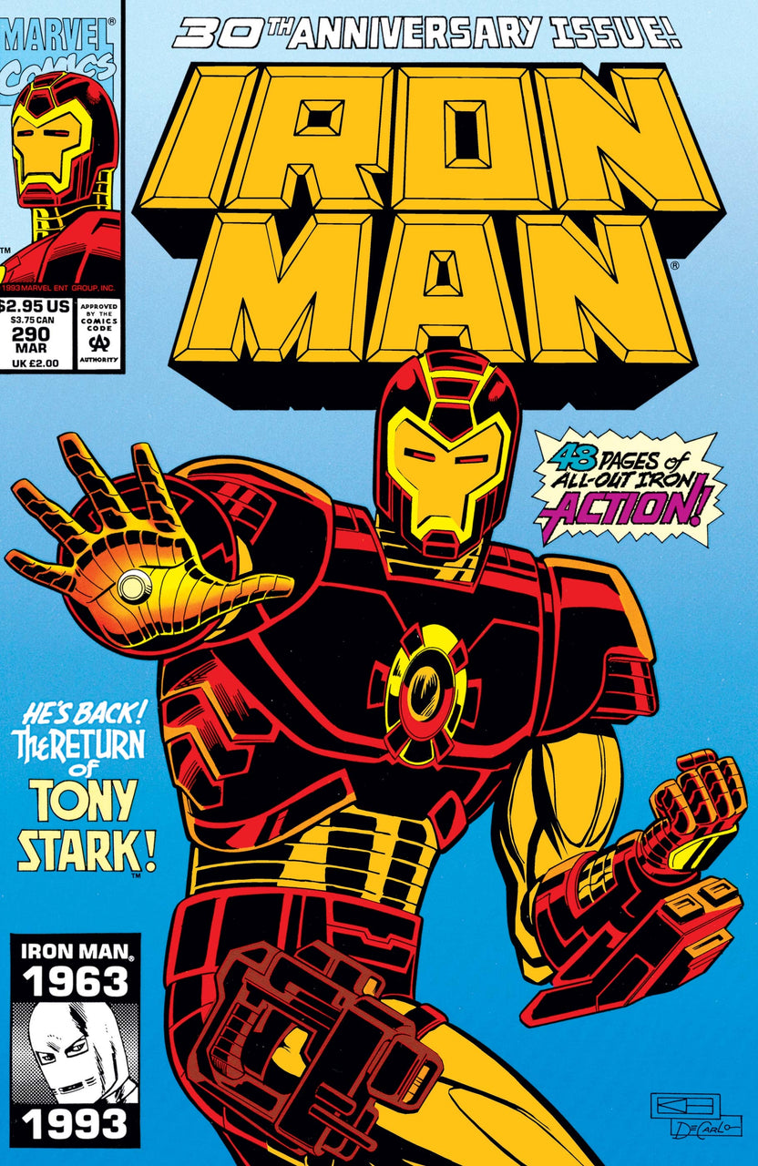 Iron Man Foil Cover issue #290