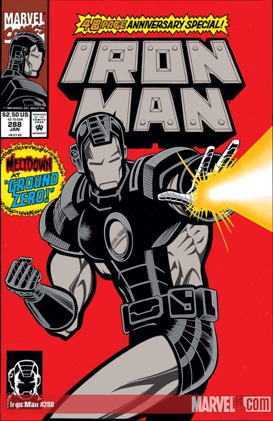 Iron Man Foil Cover issue #288