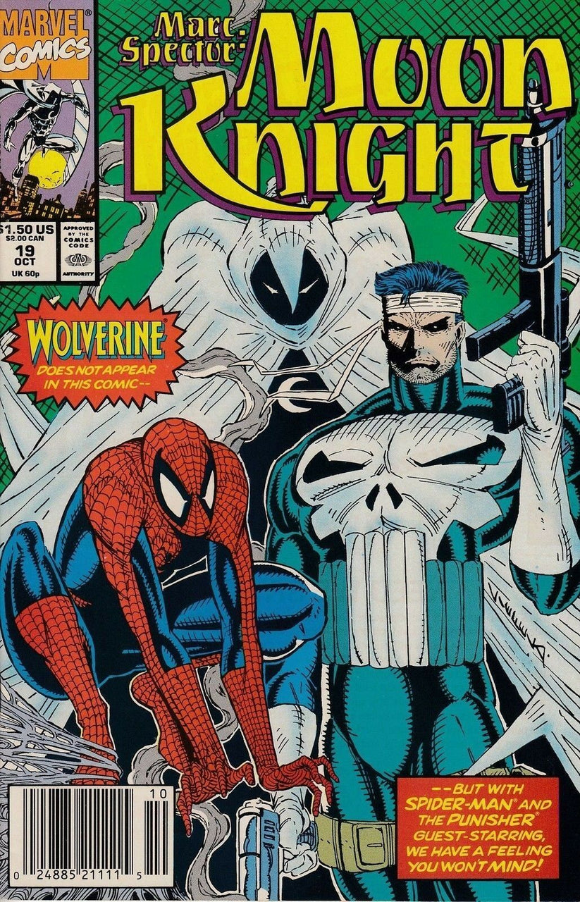 Marc Spector: Moon Knight issue #19 Rob Liefeld Punisher and Spider-Man