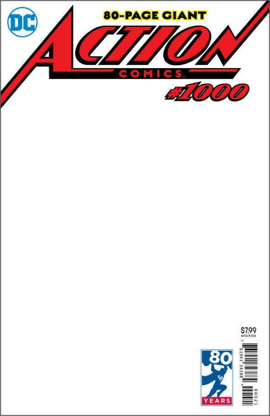 Action Comics Blank Variant issue #1000