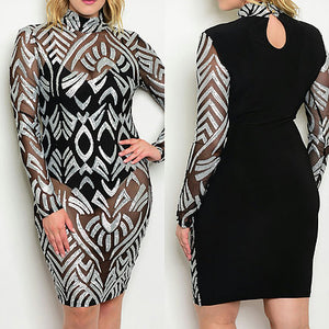 Plus Size Sequence Dress
