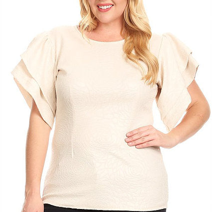 Plus Size Ruffle top