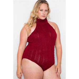 Alyse Plus Size Sleeveless Mock Neck Bodysuit