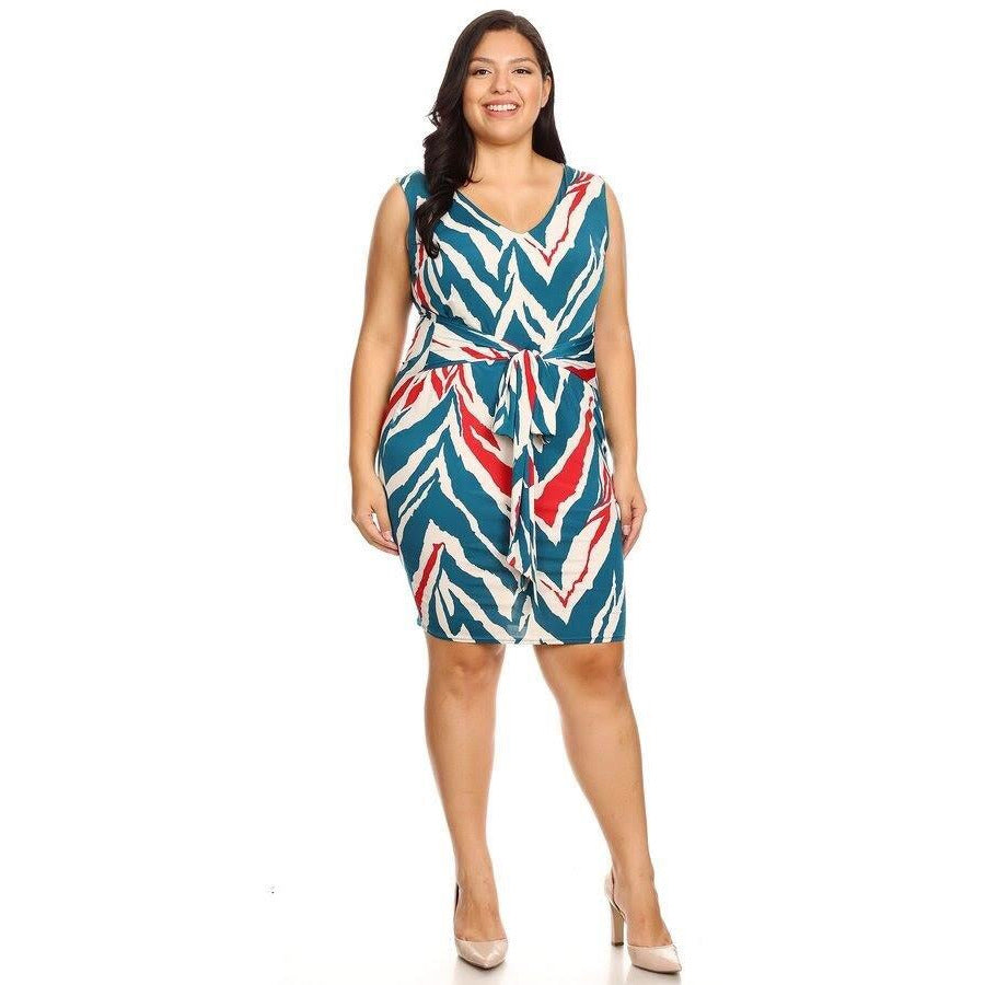 Abstract Body Con Dress