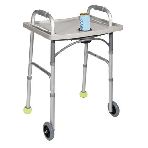 Universal Walker Tray with Cup Holder  Grey  Drive,Wheelchair - accessories/parts,Scroll Forever,Scroll Forever