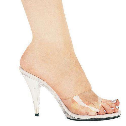 "4"" Heel Clear Mule.,4 inch sandals & pumps-405,Scroll Forever,Scroll Forever"