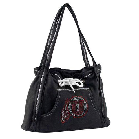 Utah Utes NCAA Sport Noir Hoodie Purse,Sports fan handbags,Scroll Forever,Scroll Forever